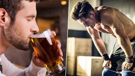 alcohol deporte persona bebiendo